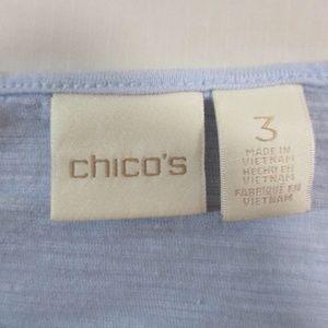 Chico's Tops - Chicos Lagenlook Periwinkle Pop-Over Top 3
